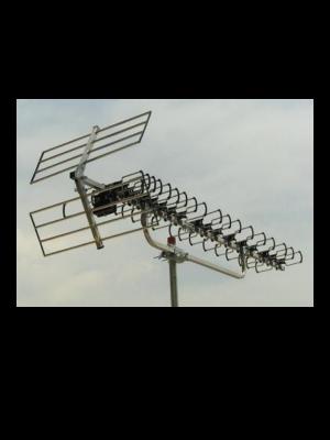 """Κεραία TV typ D 90EL με """"F""""connector."""