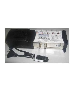 Ενισχυτής κεντρικών εγκαταστάσεων, Model AM-6051. 1in BI/FM  -1in BIII/DAB -3in UHF. Output 118dB/μV