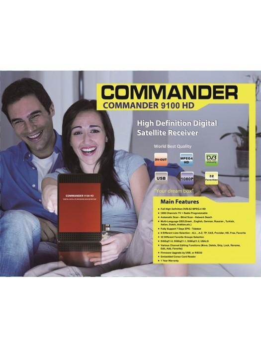 Digital receiver COMMANDER 9100HD, + CARD READER