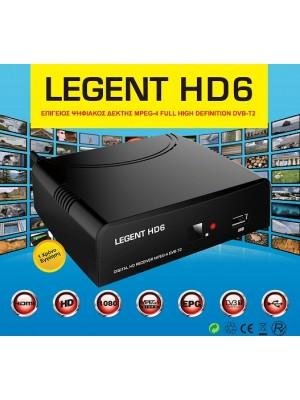 LEGEND HD6, Επίγειος ψηφιακός δέκτης MPEG4 Full High Definition DVB-T2