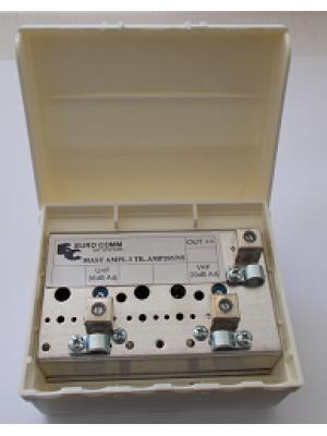 Ενισχυτής ιστού VHF-20dB, UHF-36dB ρυθμιζ. Model AMP-205/NS (άνευ τροφοδοτικού)  Euro-comm Made in Italy